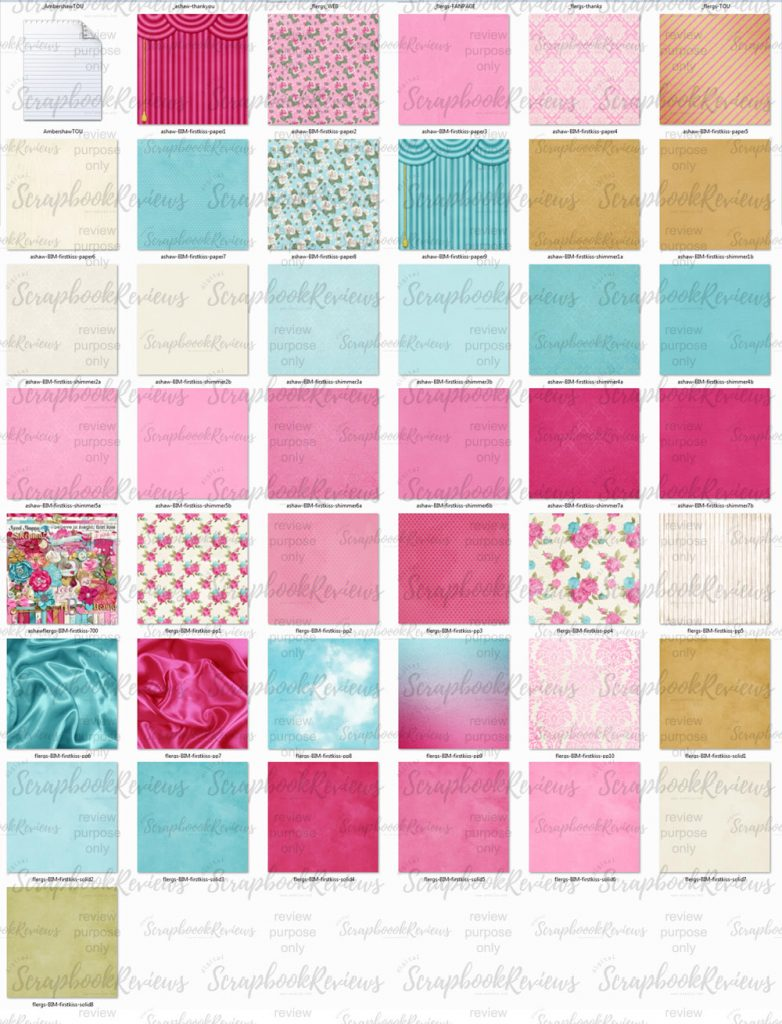 Patterned, solids and shimmers - digital scrapbook paper